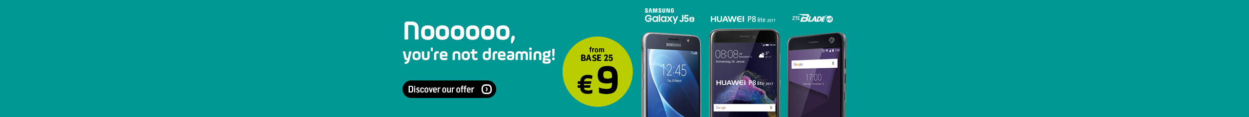 Smartphones from € 9 - BASE promotion