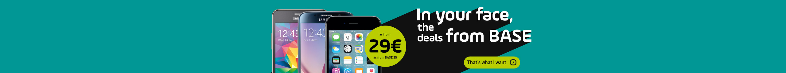 Smartphones from € 29 - BASE promo sales